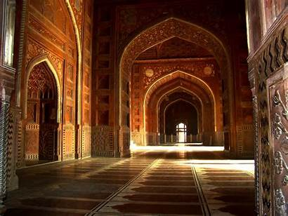 Mahal Taj Inside India Agra Symbol Found