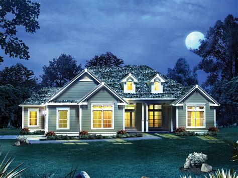4 Bedroom, 2 Bath Country House Plan   #ALP 09LU