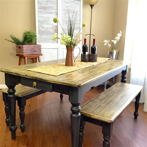 Farmhouse Made New by Farmhouse Dining Table By Made New Design Painted