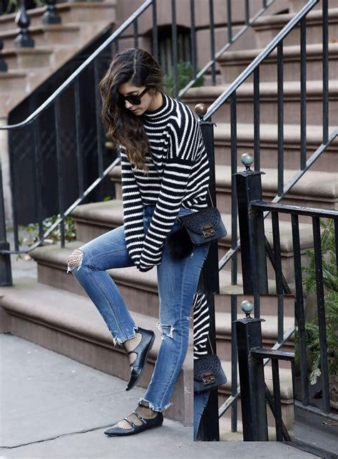 Six Ways to Wear Fishnets Under Jeans | Saturday Fashion