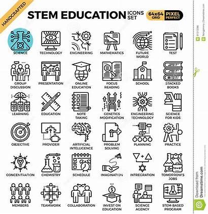 Math Engineering Science Technology Stem Education Icon