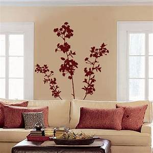 Large cherry blossoms flowers and branches set of