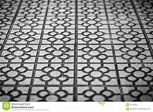 Abstract Tile Background In Black And White. Royalty Free ...