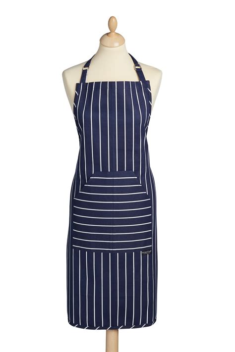 Industrial Kitchen Aprons by Kitchencraft Blue Butcher S Stripe Apron Aprons