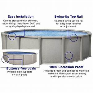 Matrix 54 U0026quot  Resin Above Ground Swimming Pool Kit