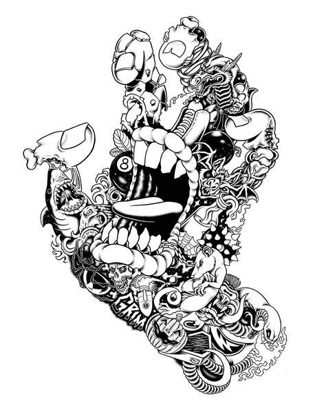 Source: yaialike   Skateboard art, Black and white drawing, Joker art