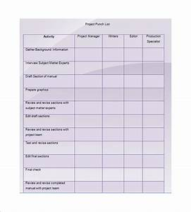 Punch list template 8 free word excel pdf format for Punchlist template