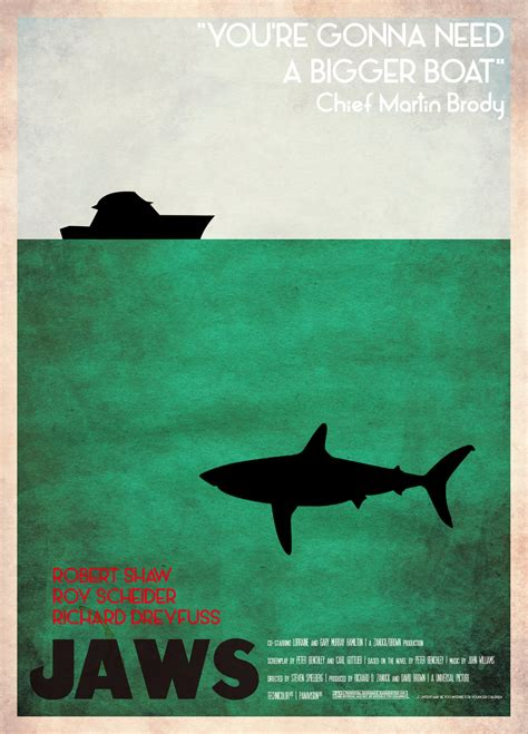 Jaws Bigger Boat Quote by Kirkham A Movie A Day Less Celebrated Lines From Jaws