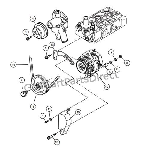Club Car Xrt Part Diagram by 2008 Club Car Xrt 1550 Or Carryall 295 Golfcartpartsdirect