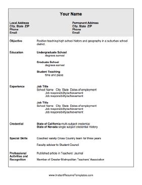 education on resume for high school student education resume template
