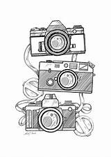 Camera Drawing Sketch Drawings Sketches Canon Coloring Simple Draw Doodle Pages Cool Es Illustration Manuel Retro Cameras Dibujos Adult Crayon sketch template