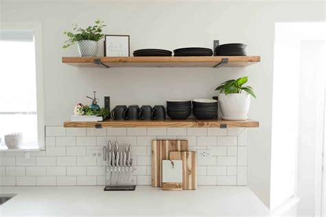 kitchen shelving ideas  wont break  bank