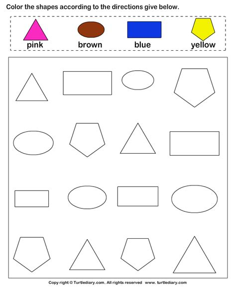 preschool colors and shapes color the shape turtlediary 129