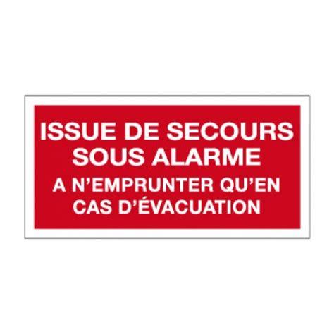 inc106 picto pvc issue de secours sous alarme pictogramme incendie pictogramme panneaux