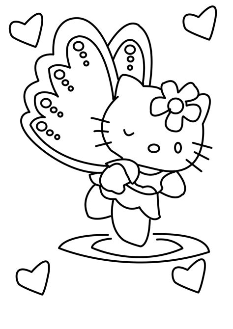 Hello Kitty Girlie All Free Coloring Page For Kids