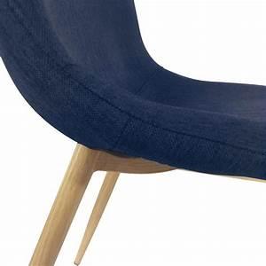Chaise Bleu Scandinave : chaises scandinaves karl tissu bleu pas cher scandinave deco ~ Teatrodelosmanantiales.com Idées de Décoration