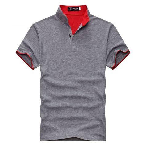 kaos t shirt 1 kaos polo shirt pria casual t shirt size l gray