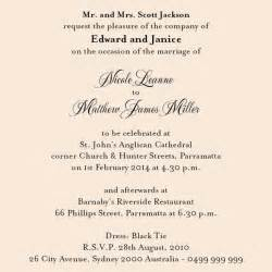 sle rsvp cards religious wedding invitation wording etiquette wedding