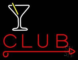 Martini Glass Club Neon Sign