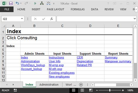 create an index worksheet using excel hyperlinks excel