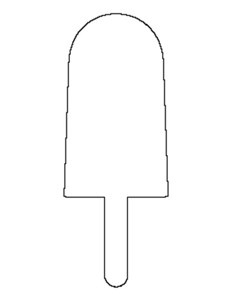 popsicle template free food patterns for crafts stencils and more page 4