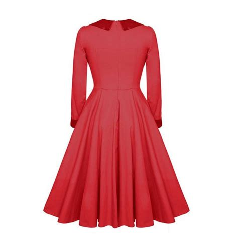 Wholesale 1950s Vintage Long Sleeve Collared Single Color