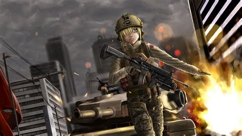 Soldier Anime Wallpaper - 4k anime wallpaper battlefield soldier