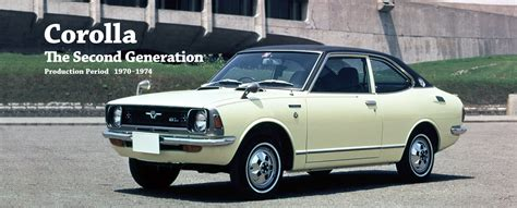 toyota global site corolla the second generation 01