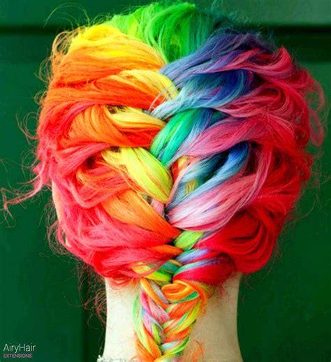 rainbow hair color 20 rainbow hair extensions hair color ideas for 2019