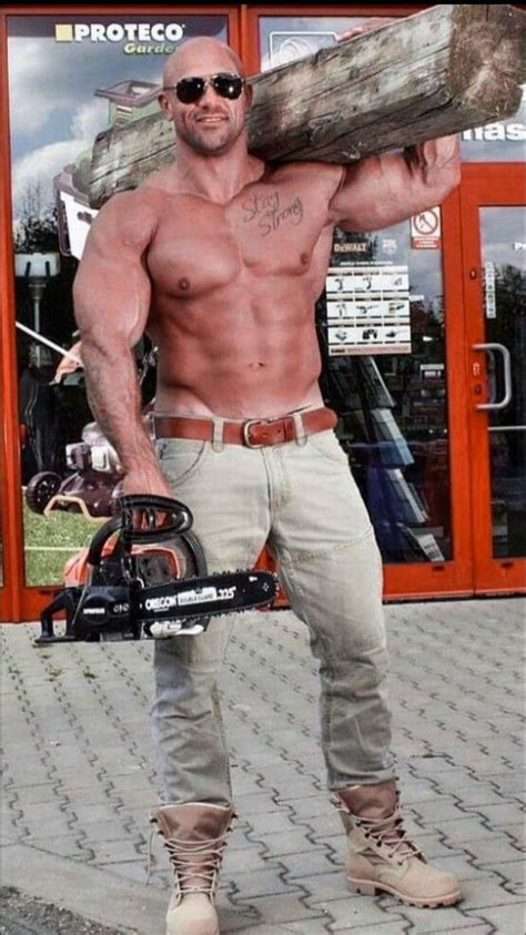 muscle man power tool images pinterest working men