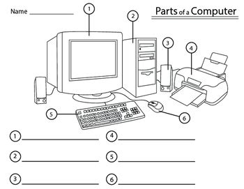 parts of a computer by twisted palette illustrations tpt