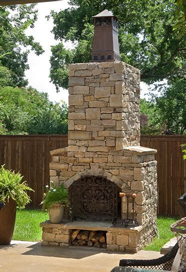 outdoor fireplace kits   pre engineered arched