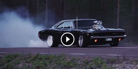 1968 Dodge Charger Rt Burn Out