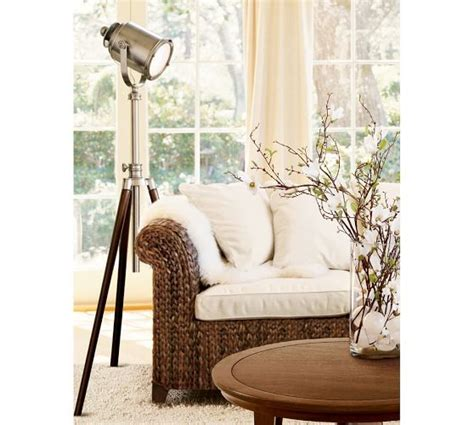 photographer s tripod floor l pottery barn crystal