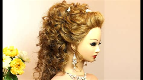 Wedding For Long Hair : Curly Wedding Hairstyle For Long Hair Tutorial