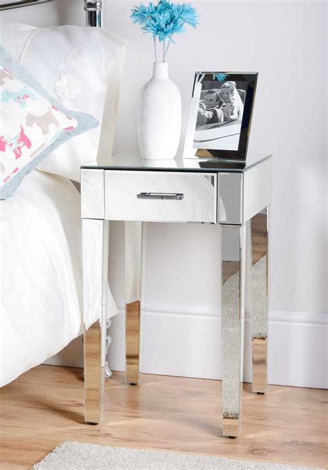 tables awesome bedroom design  mirror bedside table