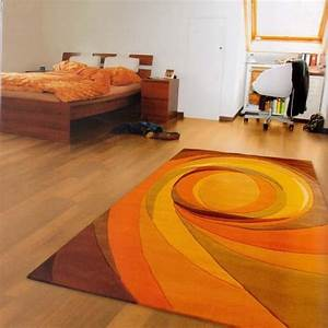 Emejing tapis salon orange contemporary awesome interior for Tapis shaggy orange