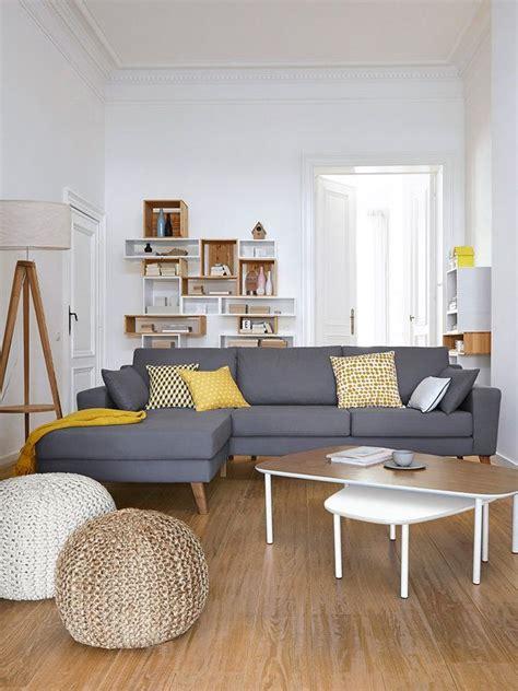 canape d angle rond salas de estar estilo escandinavo 39 decoracion de