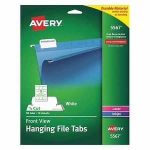 avery hanging file tabs white pk90 5567 zorocom With avery hanging file labels