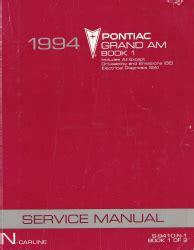 auto repair manual free download 1994 pontiac grand am electronic throttle control 1994 pontiac grand am factory service manual 2 volume set