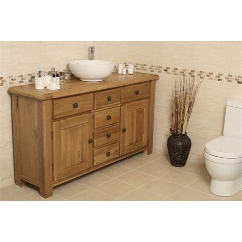 Rustic Bathroom Vanity Units by Ohio Large Rustic Oak Bathroom Vanity Unit Click Oak