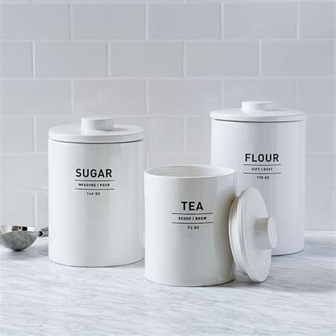 white kitchen canister utility kitchen canisters white west elm