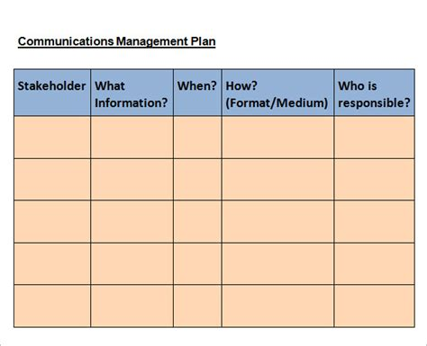 communications plan template word 11 sles of communication plan templates sle templates