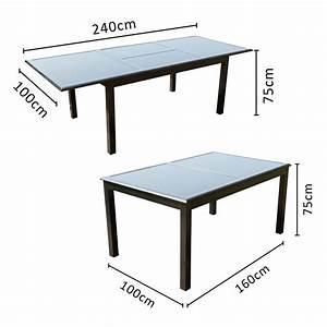 Table de jardin extensible 12 personnes + 10 chaises en aluminium Ravenne Concept Usine