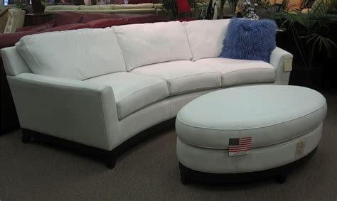 Oval Loveseat by Monaco Curved Sofa Oval Ottoman Valley Leather