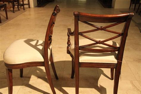 Chair Bench by Mahogany Cross Back Dining Chairs Antique Reproductions