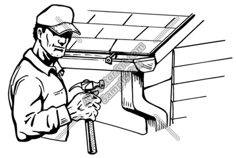 Roof Gutters Clipart