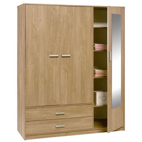 armoire bureau design felix 3 door 2 drawer wardrobe brighton oak