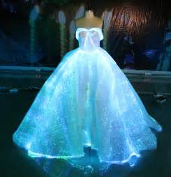fiber optic wedding dress rgb led light up wedding gown