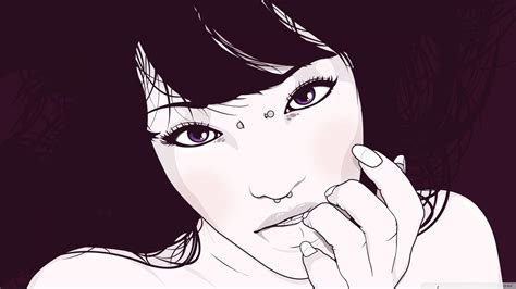 girl portrait illustration  hd desktop wallpaper
